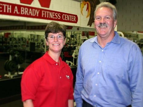 Debra Riggott, Athletic Trainer; William Foley, Athletic Director; Waltham High School